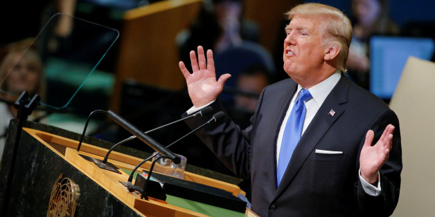 U.S. President Donald Trump addresses the 72nd United Nations General Assembly at U.N. headquarters in New York, U.S., September 19, 2017. REUTERS/Eduardo Munoz     TPX IMAGES OF THE DAY