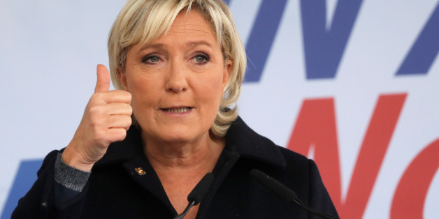 Member of parliament Marine Le Pen of France's far-right National Front (FN) political party gives the thumbs as she speaks at a political rally in Brachay, northern France, September 9, 2017. REUTERS/Gonzalo Fuentes