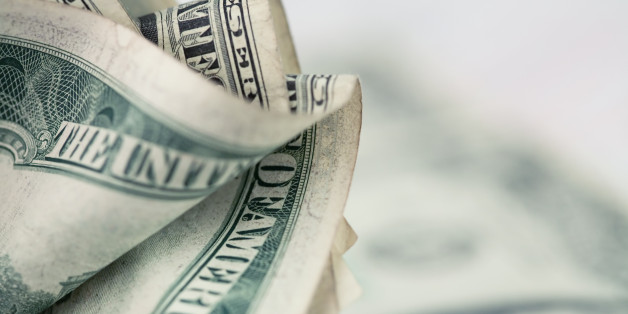Money background - US dollars background. Close up photo with shallow DOF and space for your text