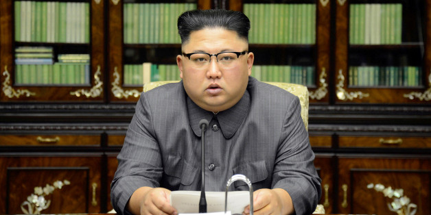 North Korea's leader Kim Jong Un makes a statement regarding U.S. President Donald Trump's speech at the U.N. general assembly, in this undated photo released by North Korea's Korean Central News Agency (KCNA) in Pyongyang September 22, 2017. KCNA via REUTERS ATTENTION EDITORS - THIS PICTURE WAS PROVIDED BY A THIRD PARTY. REUTERS IS UNABLE TO INDEPENDENTLY VERIFY THIS IMAGE. NO THIRD PARTY SALES. SOUTH KOREA OUT. TPX IMAGES OF THE DAY