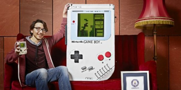 A Nintendo Game Boy handheld game console photographed on a white background, taken on March 26, 2009. (Photo by Neil Godwin/GamesMaster Magazine via Getty Images)