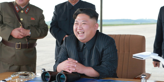 North Korean leader Kim Jong Un guides the launch of a Hwasong-12 missile in this undated photo released by North Korea's Korean Central News Agency (KCNA) on September 16, 2017. KCNA via REUTERS   ATTENTION EDITORS - THIS PICTURE WAS PROVIDED BY A THIRD PARTY. REUTERS IS UNABLE TO INDEPENDENTLY VERIFY THIS IMAGE. NO THIRD PARTY SALES. SOUTH KOREA OUT.