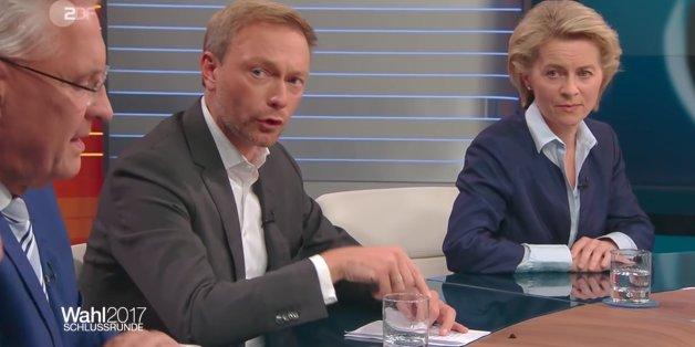 """FDP-Lindner macht in der ARD-""""Schlussrunde"""" vor, wie die Politik mit der AfD umgehen sollte"""