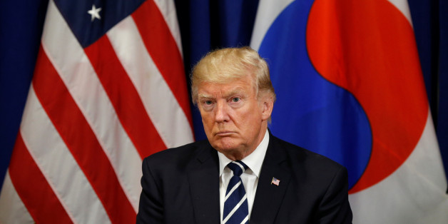 U.S. President Donald Trump looks on during his meeting with South Korean president Moon Jae-in during the U.N. General Assembly in New York, U.S., September 21, 2017. REUTERS/Kevin Lamarque