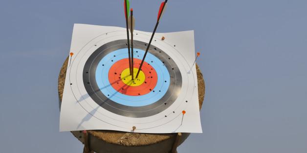 Arrows in a target.
