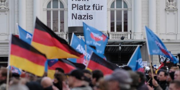 Eine AfD-Demonstration in Hamburg (Archivbild)