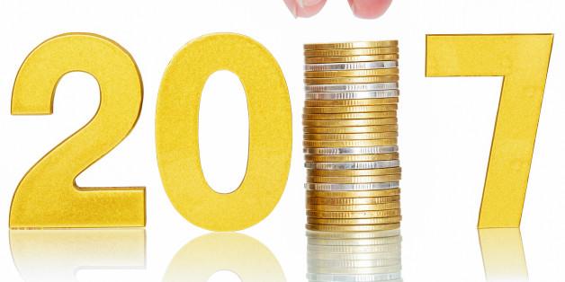 golden 2017,money saving concept