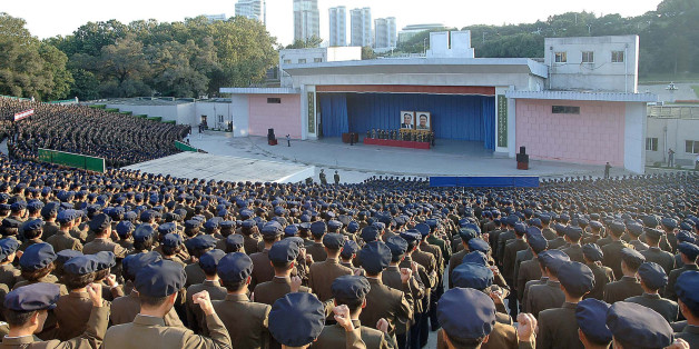 This picture taken on September 23, 2017 and released from North Korea's official Korean Central News Agency (KCNA) on September 24 shows a meeting of the youth and students at the Youth Park Open-Air Theatre during an anti-US rally in Pyongyang. / AFP PHOTO / KCNA VIA KNS / STR / South Korea OUT / REPUBLIC OF KOREA OUT   ---EDITORS NOTE--- RESTRICTED TO EDITORIAL USE - MANDATORY CREDIT 'AFP PHOTO/KCNA VIA KNS' - NO MARKETING NO ADVERTISING CAMPAIGNS - DISTRIBUTED AS A SERVICE TO CLIENTSTHIS PIC