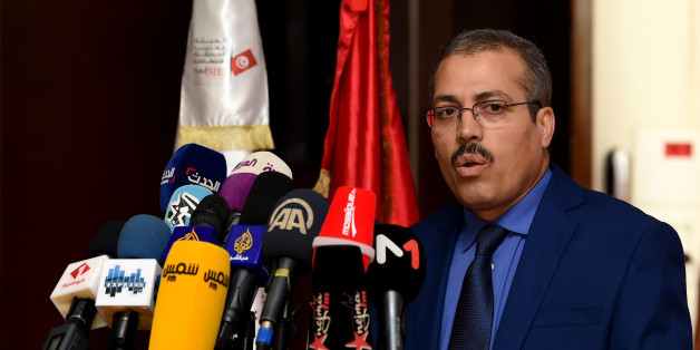 The Acting President of the Independent High Authority for Elections (ISIE), Anouar Ben Hassine, gives a speech during a meeting in the capital Tunis with all political parties to decide on the date of the next municipal elections on September 18, 2017.  / AFP PHOTO / FETHI BELAID        (Photo credit should read FETHI BELAID/AFP/Getty Images)
