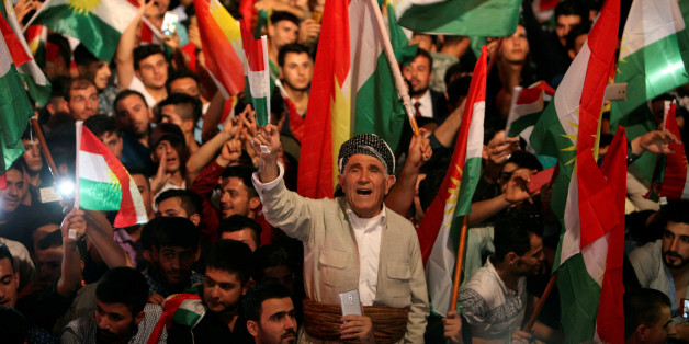 Kurdish people celebrate to show their support for the upcoming September 25th independence referendum in Erbil, Iraq September 8, 2017. REUTERS/Azad Lashkari