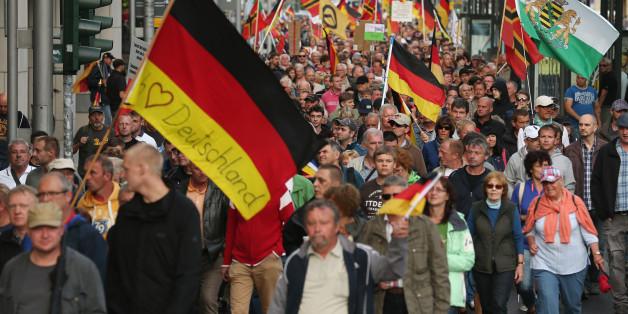 Anti-Flüchtlingsdemonstration in Dresden