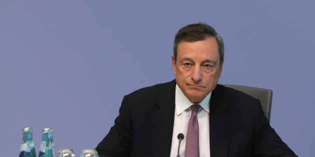 Mario Draghi, president of the European Central Bank (ECB), pauses during a news conference following the bank's interest rate decision, at the ECB headquarters in Frankfurt, Germany, on Thursday, Sept. 7, 2017. The European Central Bank opted to keep its stimulus settings unchanged for now as officials started cautiously sketching out the future of their quantitative-easing program.  Photographer: Alex Kraus/Bloomberg via Getty Images
