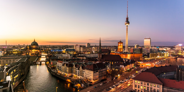Berlin Skyline in the dusk