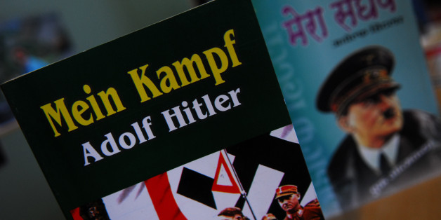 NEW DELHI, INDIA - JUNE 18, 2010: Picture of the book Mein Kampf. It is an autobiography on Adolf Hitler. The book has become increasingly popular across the country. (Photo by Pradeep Gaur/Mint via Getty Images)