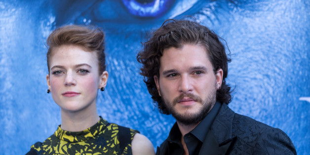 LOS ANGELES, CALIFORNIA - JULY 12:  Actors Kit Harington and Rose Leslie attend the Premiere Of HBO's 'Game Of Thrones' Season 7 at Walt Disney Concert Hall on July 12, 2017 in Los Angeles, California.  (Photo by Greg Doherty/Patrick McMullan via Getty Image)