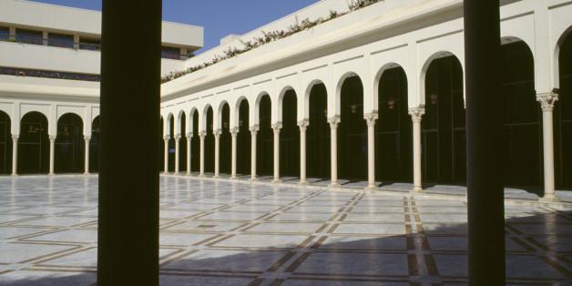 ALGERIA - MAY 05: Patio of the Palace of Culture Moufdi Zakaria, 1984, Algiers. Algeria, 20th century. (Photo by DeAgostini/Getty Images)