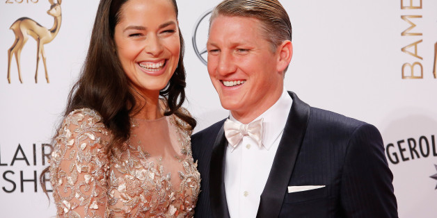 German soccer player Bastian Schweinsteiger and his wife Serbian tennis player Ana Ivanovic arrive on the red carpet for the Bambi 2016 media awards ceremony in Berlin, Germany, November 17, 2016   REUTERS/Fabrizio Bensch
