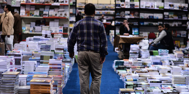 Cairo organizes the annual international book fair at exhibition land in Nasr City. Poor turnout at the exhibition as a result of political conditions. Cairo,Egypt on January 23,2014 .(Photo by Mahmoud Shahin/NurPhoto) (Photo by NurPhoto/Corbis via Getty Images)