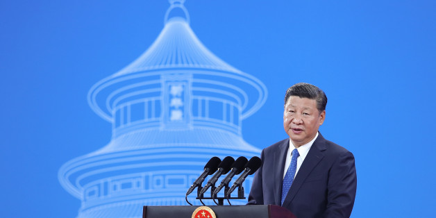 China's President Xi Jinping speaks during the 86th Interpol General Assembly at the Beijing National Convention Center in Beijing on September 26, 2017. The assembly is taking place in the Chinese capital from September 26 to 29. / AFP PHOTO / POOL / Lintao Zhang        (Photo credit should read LINTAO ZHANG/AFP/Getty Images)
