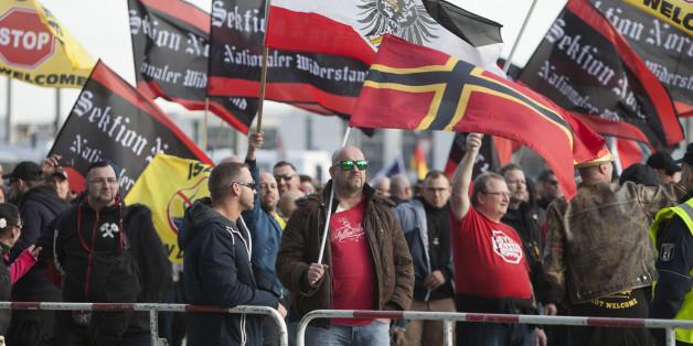 Rechte Demonstranten in Sachsen