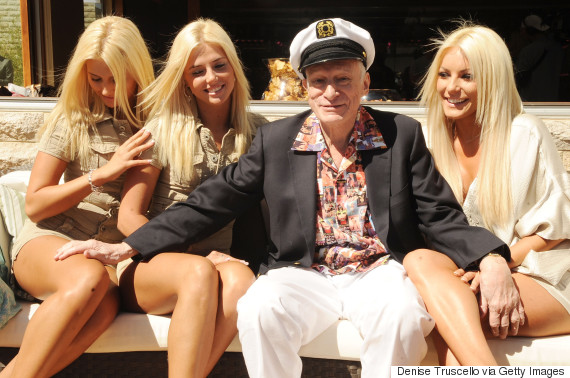 hugh hefner 83rd birthday pool party