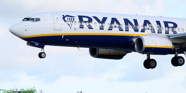 A Ryanair plane lands at Dublin Airport on September 21, 2017.  Ryanair chief executive Michael O'Leary on September 21, 2017, said he could not rule out axing more flights, but added any additional cancellations would not be linked to ongoing pilot roster problems. / AFP PHOTO / Paul FAITH        (Photo credit should read PAUL FAITH/AFP/Getty Images)