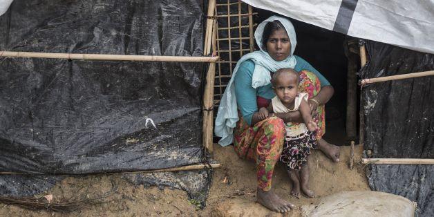 Des réfugiés Rohingyas au Bangladesh, le 28 septembre 2017
