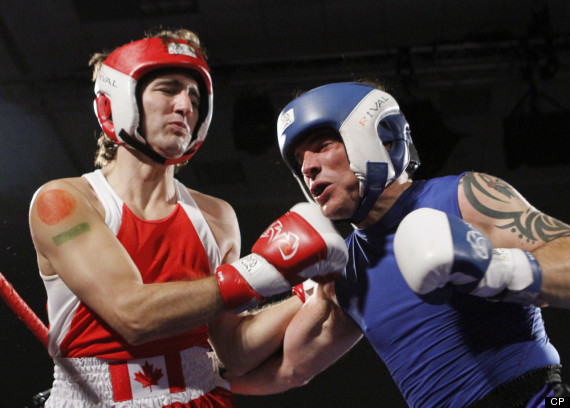 justin trudeau wins boxing match