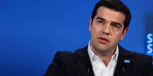 Greek Prime Minister Alexis Tsipras during the 'Supporting Syria and the Region' conference at the Queen Elizabeth II Conference Centre in London.