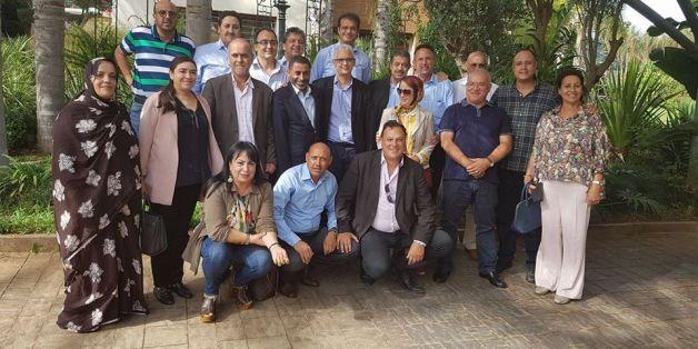 Photo de groupe prise chez l'Istiqlalien Taoufiq Hejira, septembre 2017