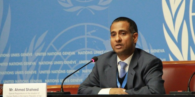 GENEVA, SWITZERLAND - MARCH 16: UN special rapporteur on the human rights situation in Iran, Ahmed Shaheed speaks at UN Human Rights Council in Geneva, Switzerland, on March 16, 2015. (Photo by Fatih Erel/Anadolu Agency/Getty Images)