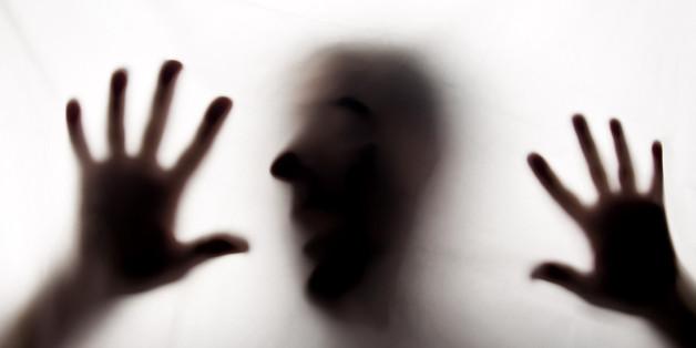 shadow of Girl like horror in studio shot