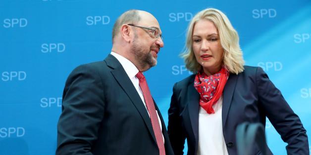 SPD-Chef Martin Schulz und die stellvertretende SPD-Vorsitzende Manuela Schwesig