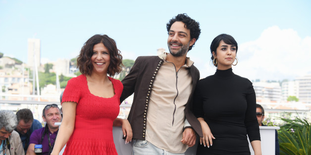 CANNES, FRANCE - MAY 19:  (R-L) Actors Mariam Al Ferjani, Ghanem Zrelli and director Kaouther Ben Hania attend 'Alaka Kaf Ifrit (La Belle Et La Meute)' Photocall during the 70th annual Cannes Film Festival at Palais des Festivals on May 19, 2017 in Cannes, France.  (Photo by Dominique Charriau/WireImage)