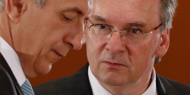 Sachsens Ministerpräsident Stanislaw Tillich und Reiner Haseloff, Ministerpräsident in Sachsen-Anhalt