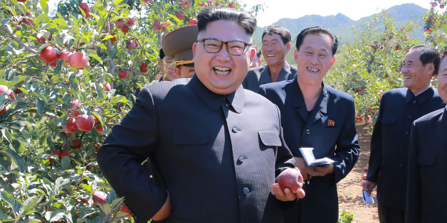 TOPSHOT - This undated picture released from North Korea's official Korean Central News Agency (KCNA) on September 21, 2017 shows North Korean leader Kim Jong-Un visiting a fruit farm at Kwail-?p County, South Hwanghae Province. / AFP PHOTO / KCNA VIS KNS AND AFP PHOTO / STR / South Korea OUT / REPUBLIC OF KOREA OUT   ---EDITORS NOTE--- RESTRICTED TO EDITORIAL USE - MANDATORY CREDIT 'AFP PHOTO/KCNA VIA KNS' - NO MARKETING NO ADVERTISING CAMPAIGNS - DISTRIBUTED AS A SERVICE TO CLIENTSTHIS PICTURE