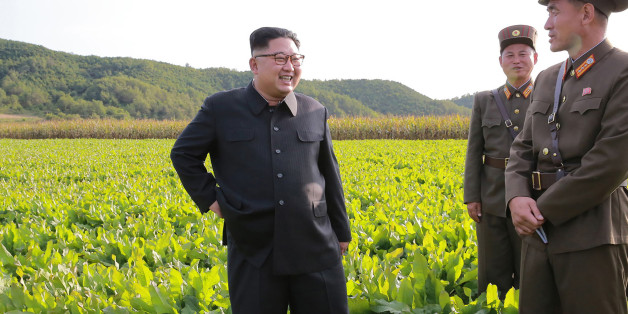 This undated picture released from North Korea's official Korean Central News Agency (KCNA) on September 30, 2017 shows North Korean leader Kim Jong-Un (L) visiting Farm No. 1116 under Korean People's Army (KPA) Unit 810 at an undisclosed location. / AFP PHOTO / KCNA VIA KNS / STR / South Korea OUT / REPUBLIC OF KOREA OUT   ---EDITORS NOTE--- RESTRICTED TO EDITORIAL USE - MANDATORY CREDIT 'AFP PHOTO/KCNA VIA KNS' - NO MARKETING NO ADVERTISING CAMPAIGNS - DISTRIBUTED AS A SERVICE TO CLIENTSTHIS P