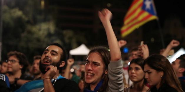Freudentaumel in Katalonien: Klares Votum für die Unabhängigkeit