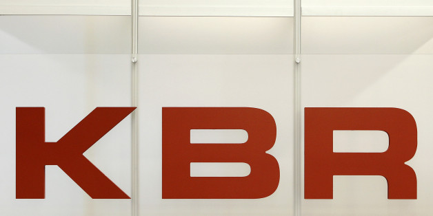 The logo for KBR Inc., is displayed at the 2010 Offshore Technology Conference in Houston, Texas, U.S., on Tuesday May 4, 2010. The conference, which was founded in 1969, attracts over 60,000 attendees and more than 2,000 exhibiting companies. Photographer: Aaron M. Sprecher/Bloomberg via Getty Images