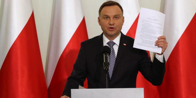 Steht im Mittelpunkt der Proteste: Polens Präsident Andrzej Duda