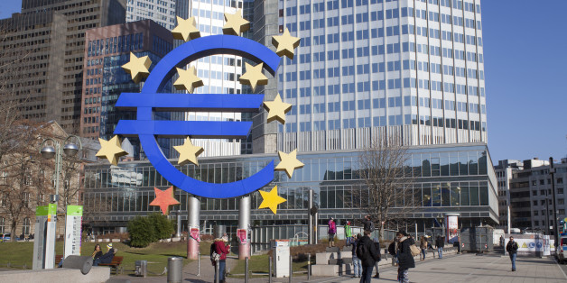 Frankfurt am Main, Germany - February 7, 2015: photo of European Central Bank, one of the world's most important central banks. it is situated in Frankfurt am Main city, Germany. Photo taken on February 7, 2015