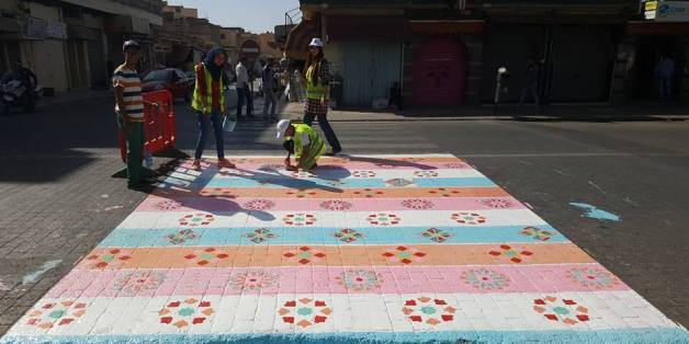 À Khouribga, ils décorent des passages piétons... Les autorités les effacent trois jours après