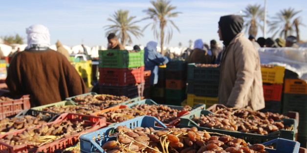 Wholesale date market. (Photo by: Godong/UIG via Getty Images)