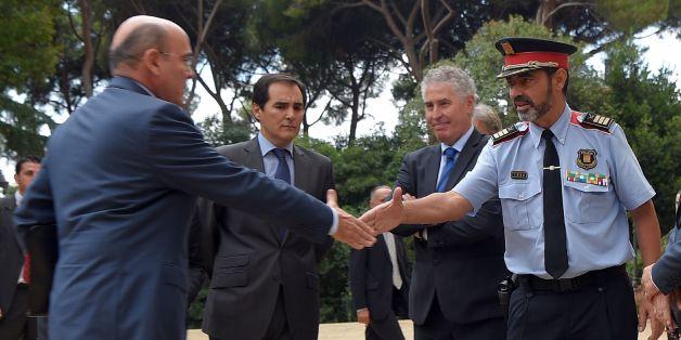le chef de los mossos (la police catalane) Josep Lluis Trapero