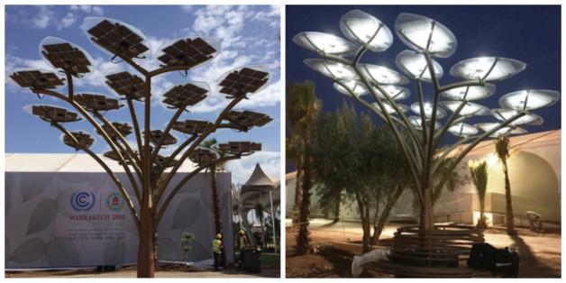 Des arbres solaires à Marrakech pour recharger vos batteries