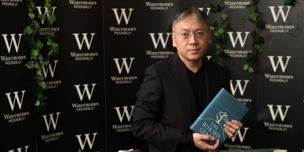 LONDON, ENGLAND - MARCH 02:  Kazuo Ishiguro meets fans and signs copies of his new novel 'The Buried Giant' at Waterstone's, Piccadilly on March 2, 2015 in London, England.  (Photo by Ian Gavan/Getty Images)