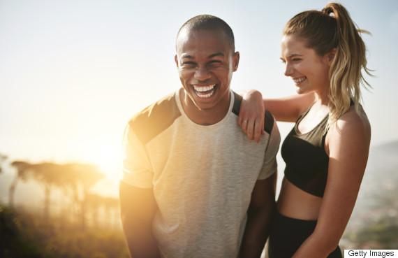 couple training sport