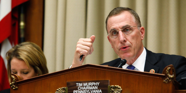 U.S. Representative Tim Murphy (R-PA) chairs a House Energy and Commerce Oversight and Investigations Subcommittee hearing on the U.S. response to the Ebola crisis, in Washington October 16, 2014.  REUTERS/Jonathan Ernst    (UNITED STATES - Tags: POLITICS HEALTH)