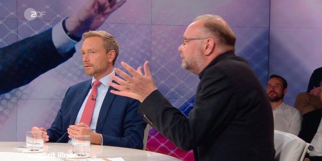 """""""Das reden Sie sich ein"""": FDP-Chef Lindner gerät im ZDF mit """"Zeit""""-Journalist über Flüchtlingspolitik aneinander"""