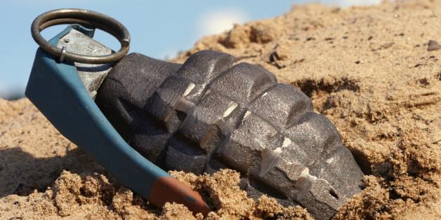 grenade in the dirt